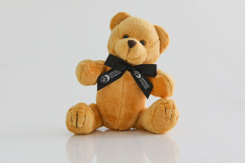 teddy black ribbon