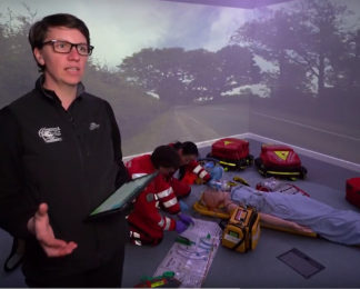 Paramedic Els Freshwater on our immersive simulation training suite