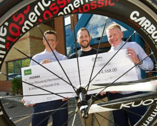 Cyclists from local construction firm give HIOWAA a 4.5k lift