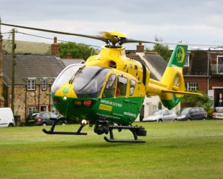 The helicopter   Hampshire and Isle of Wight Air Ambulance