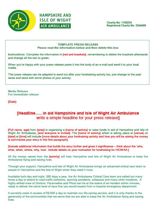 Press Release Form