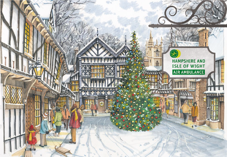 Christmas Village.A Christmas Village Christmas Cards