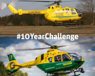 Hampshire and Isle of Wight Air Ambulance's 10 Year Challenge