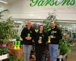 Garsons Garden Centre raise over £4,000 for HIOWAA