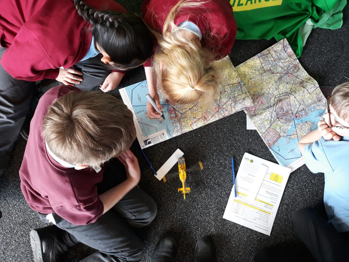 School students mission planning for LifeLines