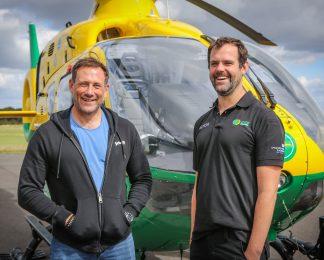 'SAS: Who Dares Wins' star visits Hampshire and Isle of Wight Air Ambulance Airbase