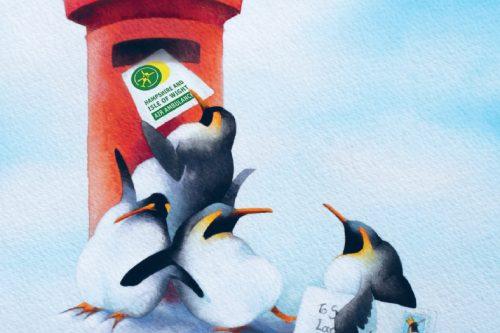 Christmas Card - Penguin Power